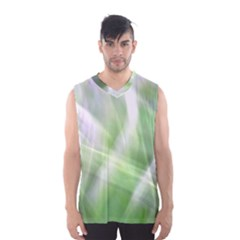 Green And Purple Fog Men s Basketball Tank Top by timelessartoncanvas