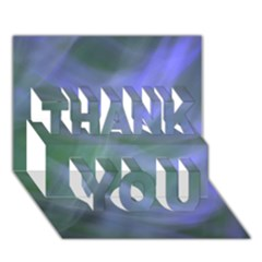 Purple Fog Thank You 3d Greeting Card (7x5)  by timelessartoncanvas