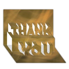 Brown Fog Thank You 3d Greeting Card (7x5)  by timelessartoncanvas