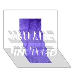 Purple Modern Leaf You Are Invited 3d Greeting Card (7x5)  by timelessartoncanvas