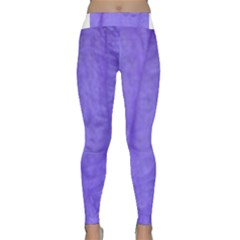 Purple Modern Leaf Yoga Leggings by timelessartoncanvas