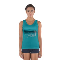 Faith, Trust, And A Little Pixie Dust In Teal/grey Tank Top by GalaxySpirit