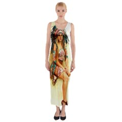 Indian 15 Fitted Maxi Dress by indianwarrior