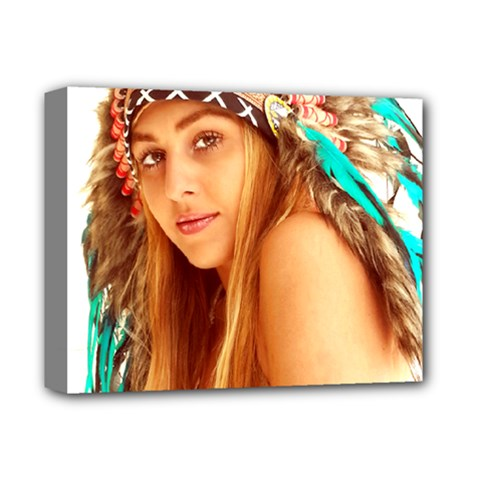 Indian 27 Deluxe Canvas 14  X 11  by indianwarrior