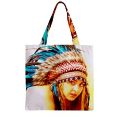 Indian 12 Zipper Grocery Tote Bag