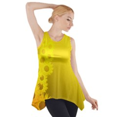 Sunflower Side Drop Tank Tunic