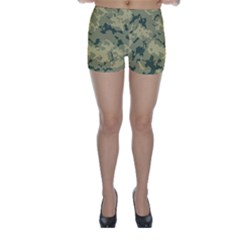 Greencamouflage Skinny Shorts by LetsDanceHaveFun