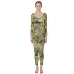 Greencamouflage Long Sleeve Catsuit by LetsDanceHaveFun