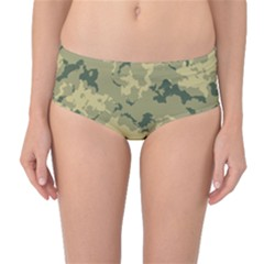 Greencamouflage Mid Waist Bikini Bottoms by LetsDanceHaveFun