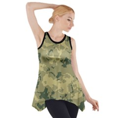 Greencamouflage Side Drop Tank Tunic by LetsDanceHaveFun