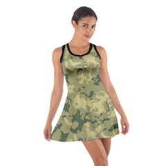 Greencamouflage Cotton Racerback Dress by LetsDanceHaveFun