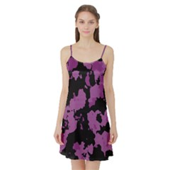 Pink Camouflage Satin Night Slip by LetsDanceHaveFun