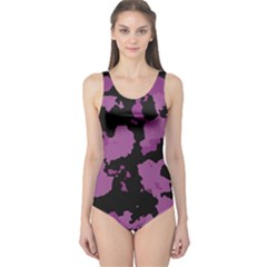 Pink Camouflage One Piece Swimsuit