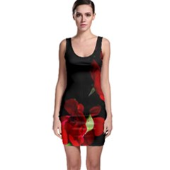 Roses 1 Sleeveless Bodycon Dress by timelessartoncanvas