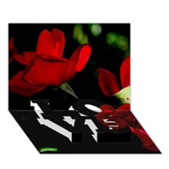 Roses 3 Love Bottom 3d Greeting Card (7x5)  by timelessartoncanvas