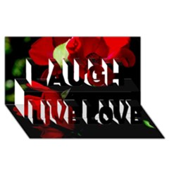 Roses 4 Laugh Live Love 3d Greeting Card (8x4)