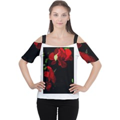 Roses 4 Women s Cutout Shoulder Tee by timelessartoncanvas