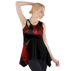 Roses 4 Side Drop Tank Tunic by timelessartoncanvas
