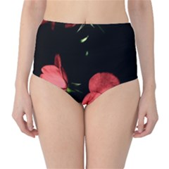 Mauve Roses 3 High Waist Bikini Bottoms by timelessartoncanvas