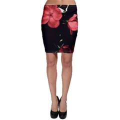Mauve Roses 4 Bodycon Skirts by timelessartoncanvas