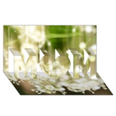 Little White Flowers Mom 3d Greeting Card (8x4)  by timelessartoncanvas