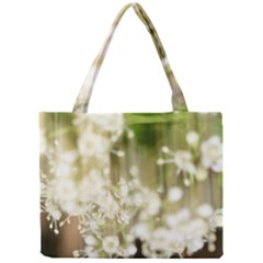 Little White Flowers Mini Tote Bag by timelessartoncanvas