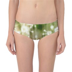 Little White Flowers Classic Bikini Bottoms by timelessartoncanvas
