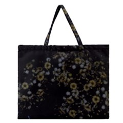 Little White Flowers 3 Zipper Large Tote Bag by timelessartoncanvas