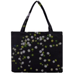 Little White And Green Dots Mini Tote Bag by timelessartoncanvas