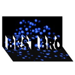 Little Blue Dots Best Bro 3d Greeting Card (8x4)  by timelessartoncanvas