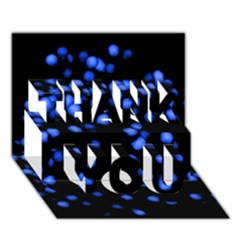 Little Blue Dots Thank You 3d Greeting Card (7x5)  by timelessartoncanvas