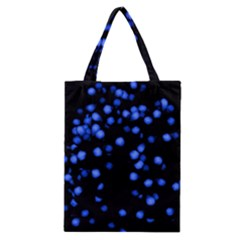 Little Blue Dots Classic Tote Bag by timelessartoncanvas