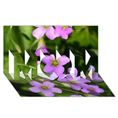 Little Purple Flowers Mom 3d Greeting Card (8x4)