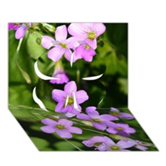 Little Purple Flowers Clover 3d Greeting Card (7x5)  by timelessartoncanvas