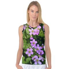 Little Purple Flowers Women s Basketball Tank Top by timelessartoncanvas