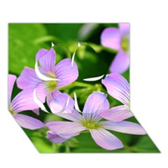 Little Purple Flowers 2 Clover 3d Greeting Card (7x5)  by timelessartoncanvas