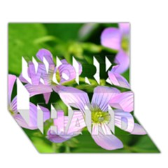 Little Purple Flowers 2 Work Hard 3d Greeting Card (7x5)  by timelessartoncanvas