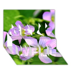 Little Purple Flowers 2 Get Well 3d Greeting Card (7x5)  by timelessartoncanvas