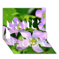 Little Purple Flowers 2 You Rock 3d Greeting Card (7x5)  by timelessartoncanvas