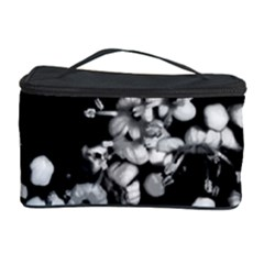 Little Black And White Flowers Cosmetic Storage Cases by timelessartoncanvas
