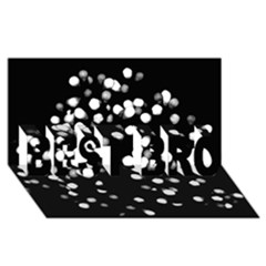 Little Black And White Dots Best Bro 3d Greeting Card (8x4)  by timelessartoncanvas