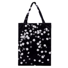Little Black And White Dots Classic Tote Bag by timelessartoncanvas