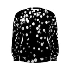 Little Black And White Dots Women s Sweatshirt by timelessartoncanvas