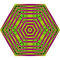 Bright Green Pink Geometric Mini Folding Umbrellas by BrightVibesDesign