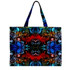 Colorful  Underwater Plants Pattern Zipper Mini Tote Bag