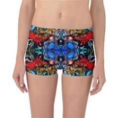 Colorful  Underwater Plants Pattern Reversible Boyleg Bikini Bottoms by Costasonlineshop