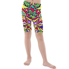 Photoshop 200resolution Kid s Mid Length Swim Shorts by MRTACPANS