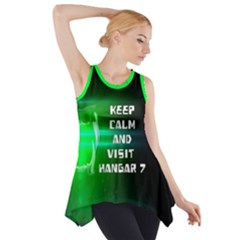 Keep Calm And Visit Hangar 7  Side Drop Tank Tunic by RespawnLARPer