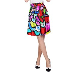 Bipolar Colour Me Up A-line Skirt by MRTACPANS