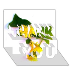 Margaritas Bighop Design Thank You 3d Greeting Card (7x5)